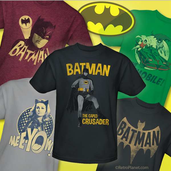 Image of Batman vintage style t-shirt designs.