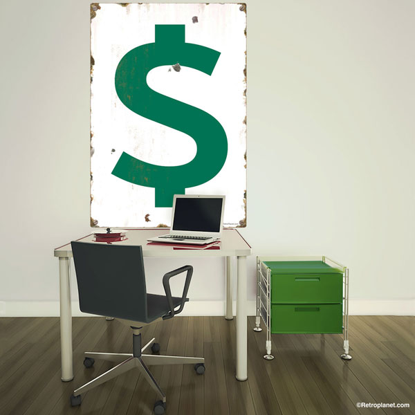 Dollar Sign Wall Decal