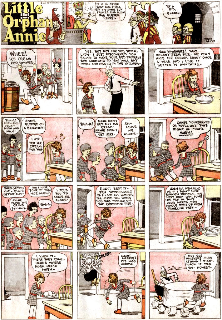 First Little Orphan Annie Comic Strip