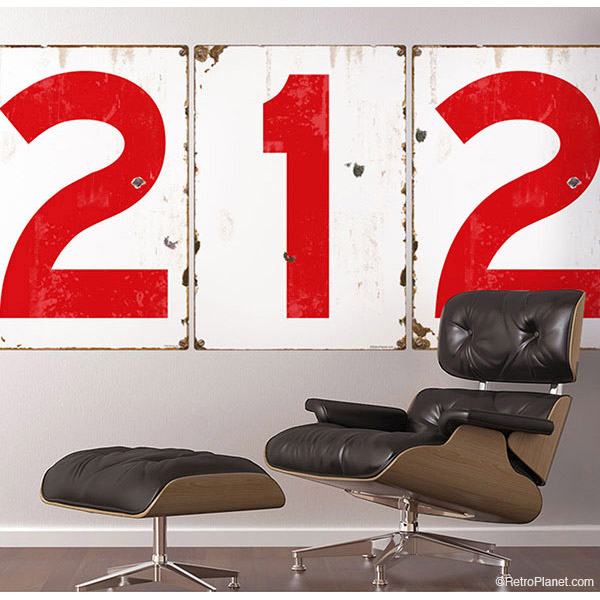Red Numbers Wall Decals