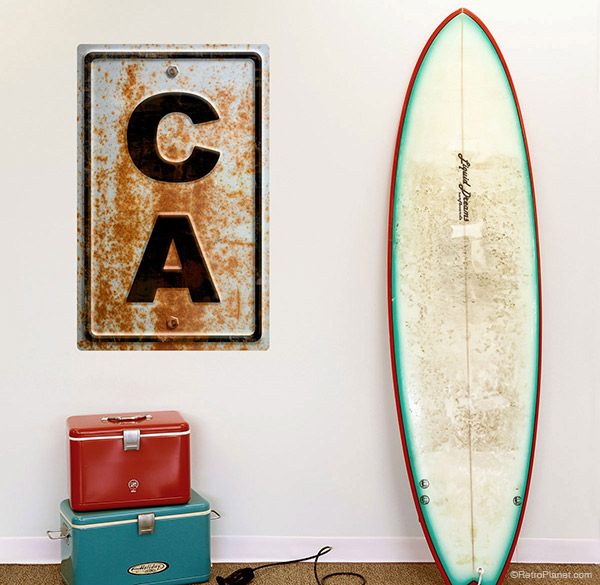 California state abbreviation large wall decal