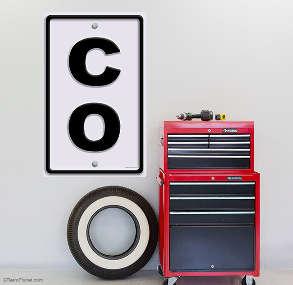 CO wall decal