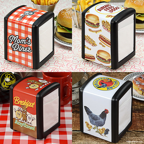 Diner, burgers and chicken family napkin holders