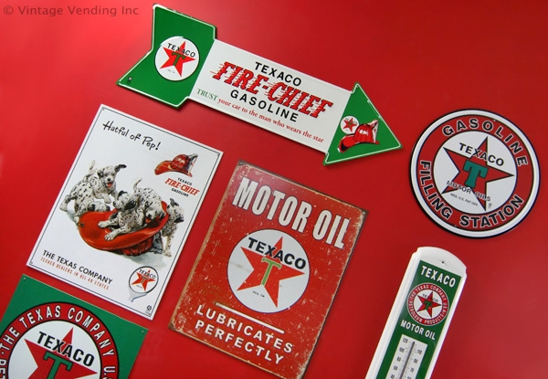 Collage of various Texaco signs