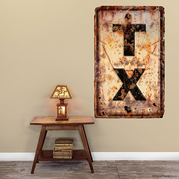 Texas distressed wall decal