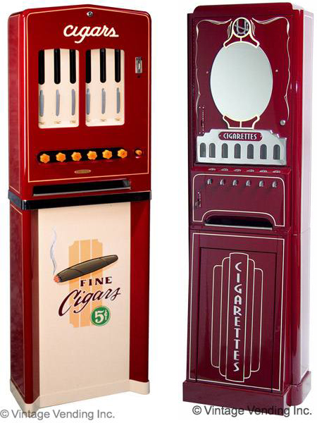 Cigaromat and Cigarette Vending Machines