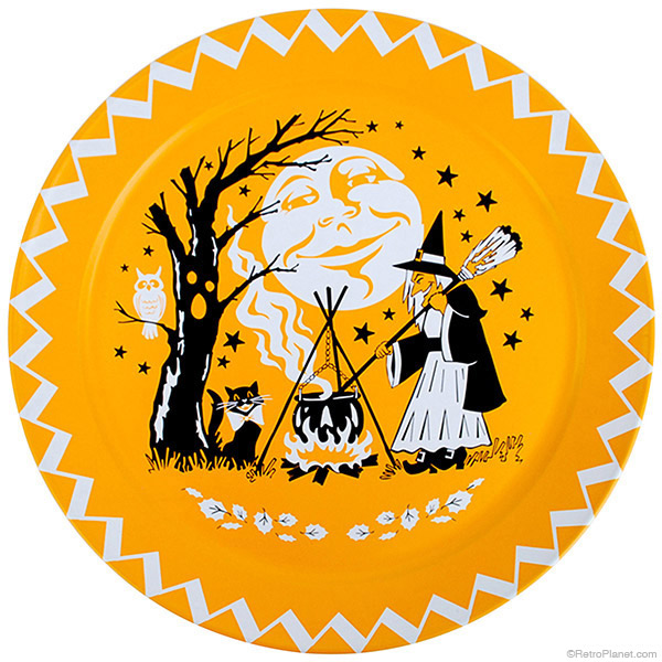 Halloween Witch Tin Serving Tray