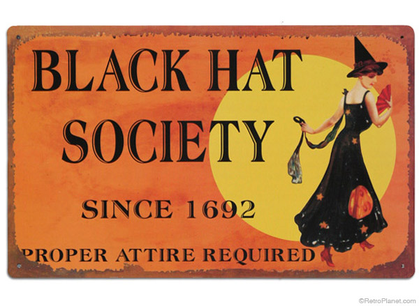 black hat society sign