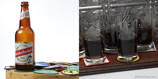 Drink coasters made from vintage patches