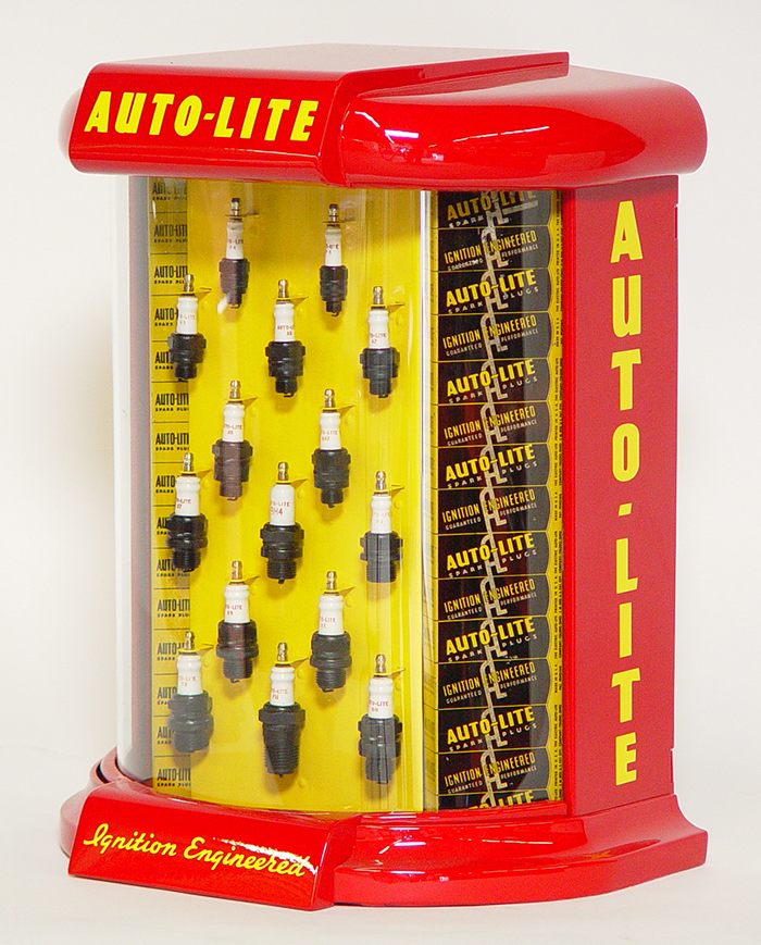 Auto-Lite Spark Plug Automotive Parts Store Counter Display