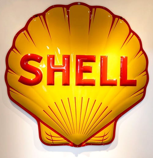 Vintage Shell Oil Sign