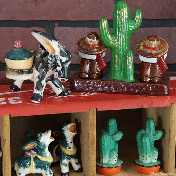 Donkey and Cactus Vintage Shakers
