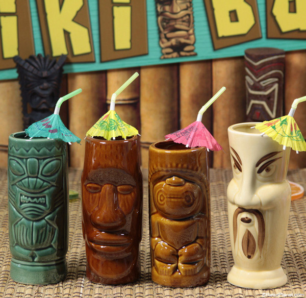 Face tiki mug set