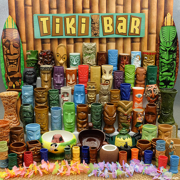 Retro Planet tiki mugs