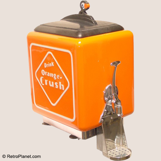 Orange Crush Early Soda Dispenser