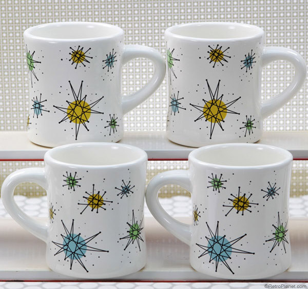 Atomic Starburst Mug Set of Six
