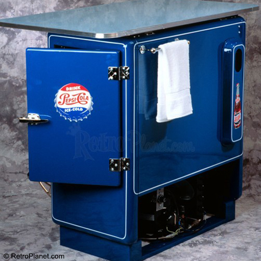 Back side of Pepsi Mini Bar