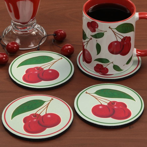 Retro Cherries Coasters