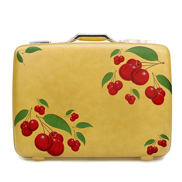 Cherries Decals on a Suitcase
