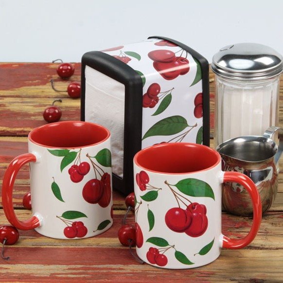 Retro Cherries Tableware Set