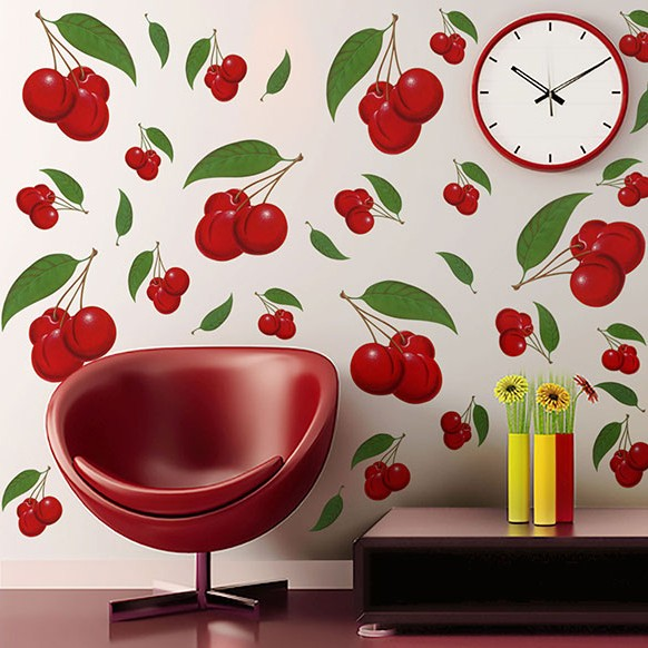 Retro Cherries Wall Decals
