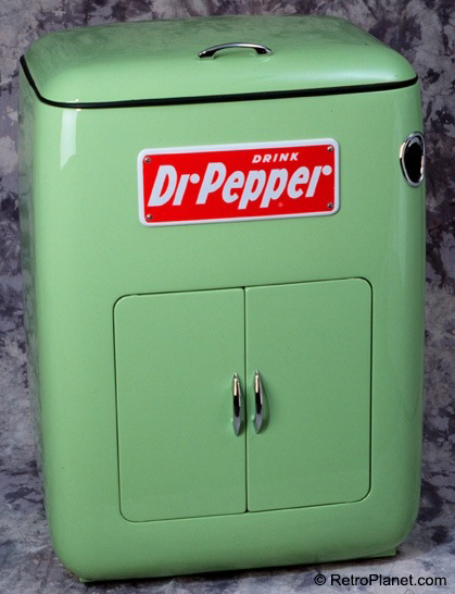 Dr. Pepper Guiberson Chest Cooler