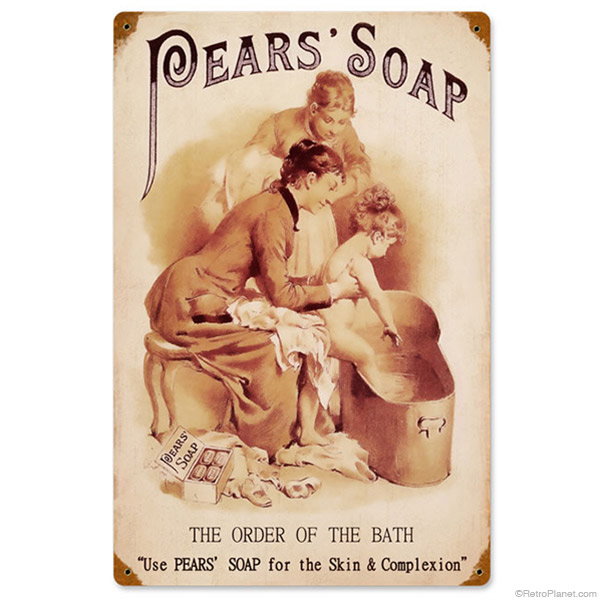 Pears Soap Vintage Style Sign