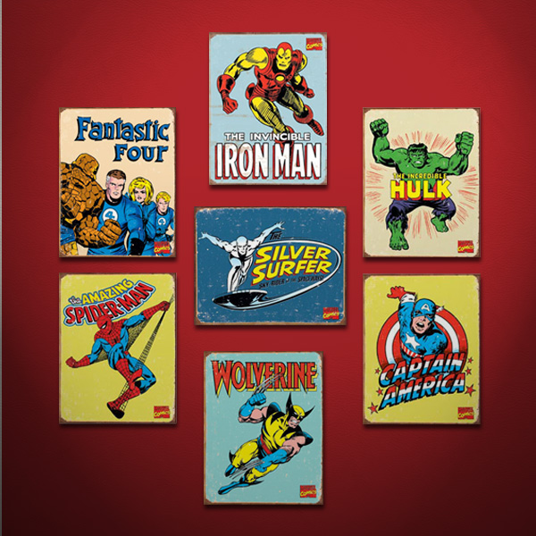 Marvel Bedroom Decor: Marvel Superhero Signs Inspire A Room With Classic Style