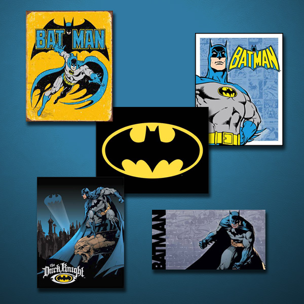 Batman Signs in a Collage