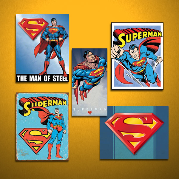 DC Superman Signs on Yellow