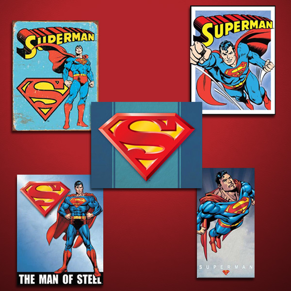 DC Superman Signs on Red
