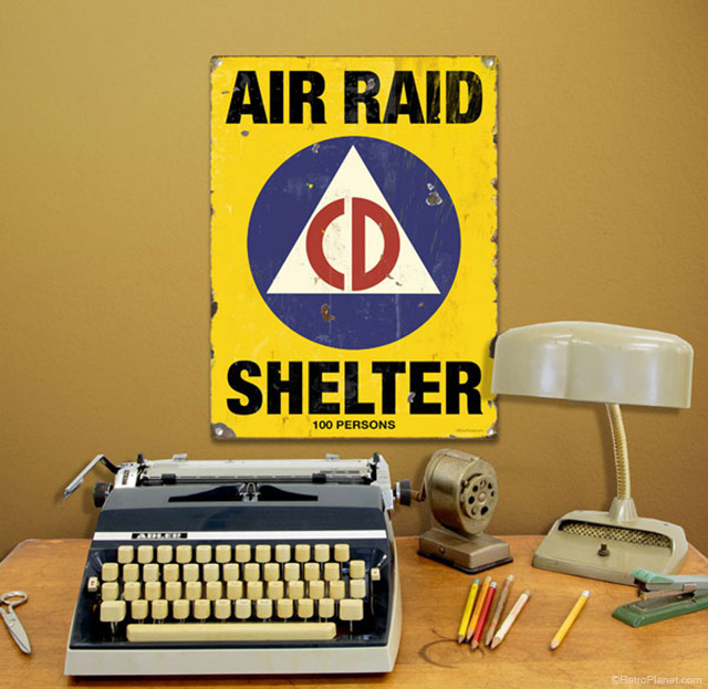 Air Raid Shelter Sign