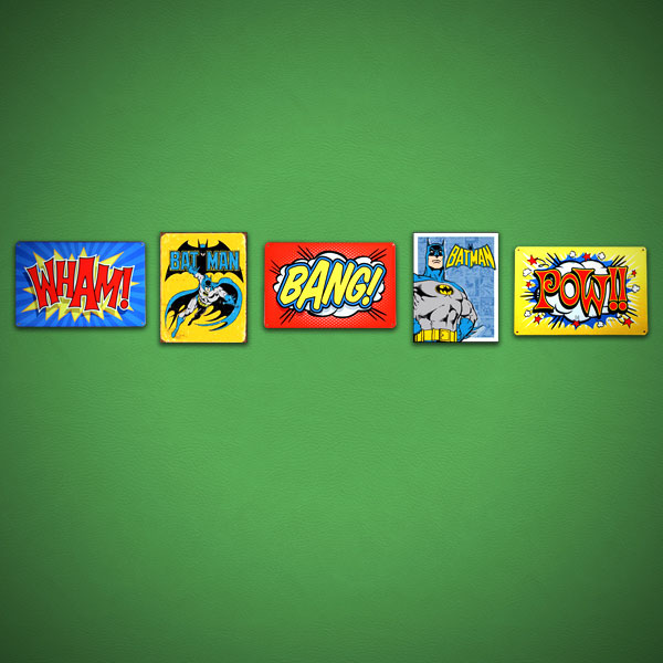 Retro Batman Sign Set