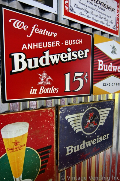 Vintage Style Budweiser Signs