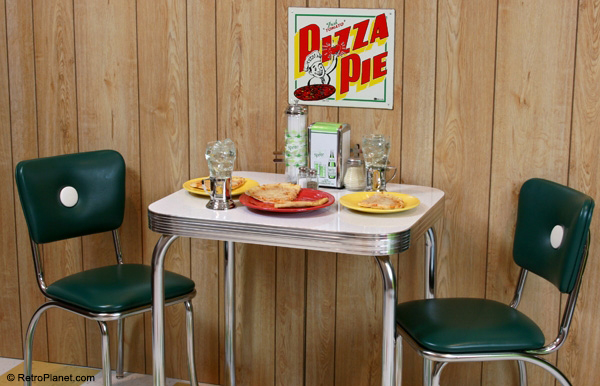 Pizza Parlor Theme Decor - Signs, Chairs, Table & More