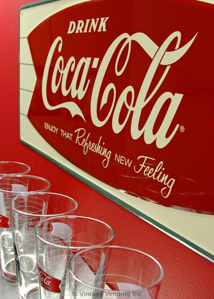 Coca-Cola Fishtail Metal Sign