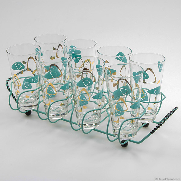 Cocktail Glasses In Carrier