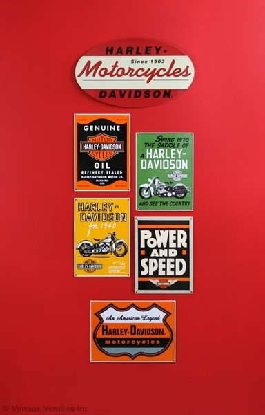 Decorating With Harley Davidson Signs