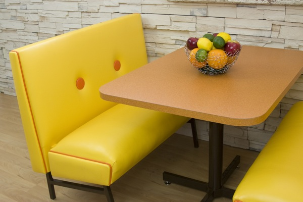Go mod with a 39 60s and 39 70s style dining booth for Furniture 70s style