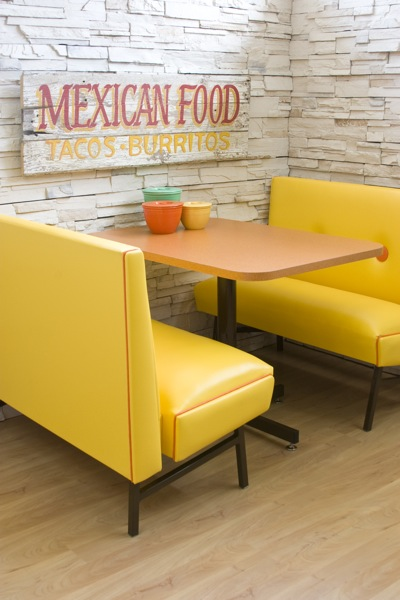 1970s Mod Dining Booth - Mexican Style