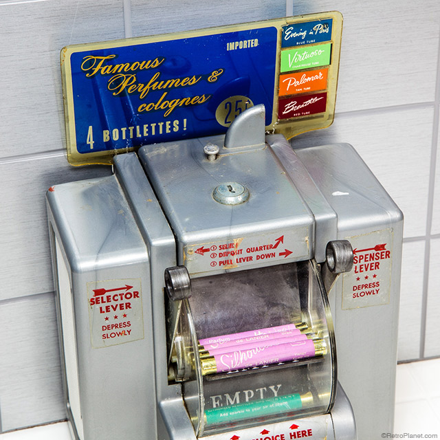 Perfume and napkin dispenser
