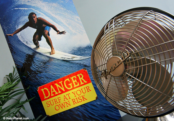 Surf poster, signs and fan