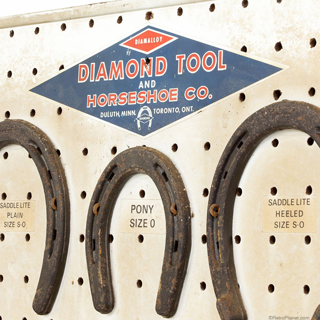 Vintage Horseshoe Display