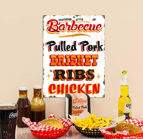 Bbq Restaurant Wall Decor : How to decorate with bbq signs and wall decals
