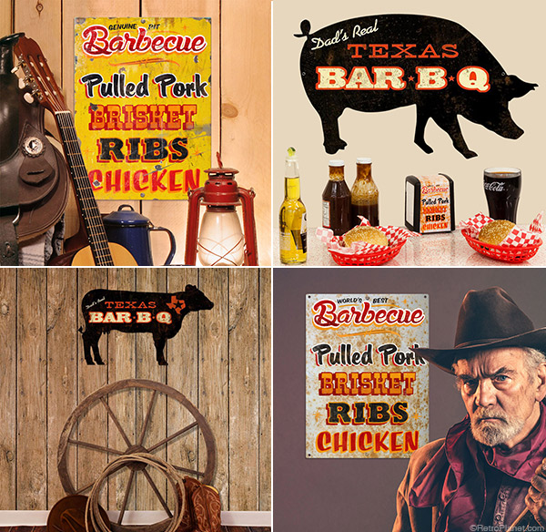 Texas-Barbecue-Signs