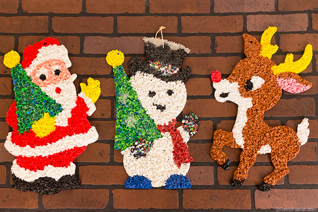 the very popular kitschy christmas decorations referred to as melted popcorn were actually named glitter plaques by their creator kage company of - Vintage Christmas Decorations