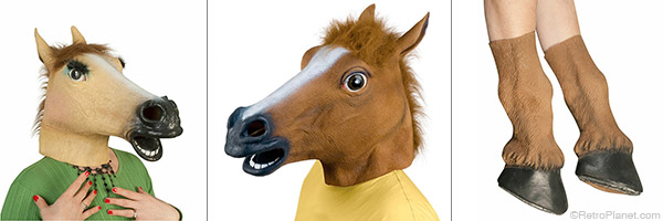 ad8eb6abfa8a Among our creepy masks are horse heads – male and female. We also have horse  hooves to complete the look.