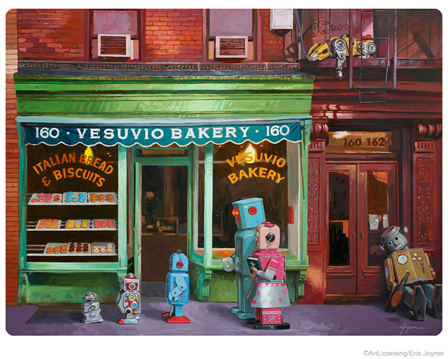 Robot Vesuvio Bakery Lost and Found