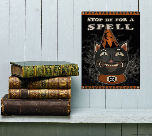 Spell Halloween Cat Sign