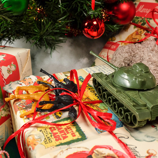 Presents Decorated With Toys